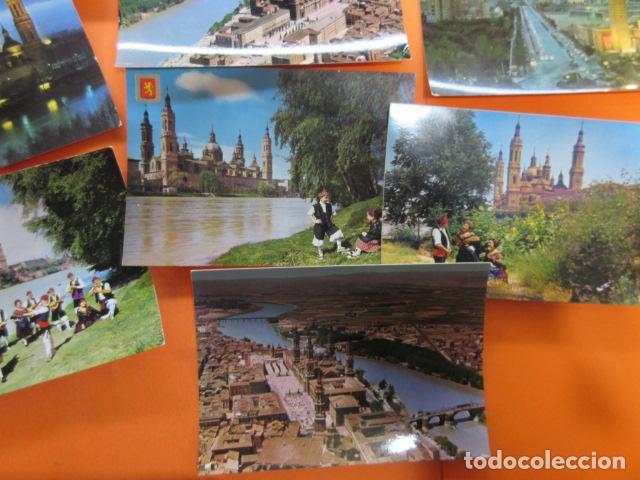 Postales: ZARAGOZA - 48 POSTALES ZARAGOZA - VARIAS CIRCULADAS 1967 Y 1973 CON SELLO - Foto 3 - 143192470