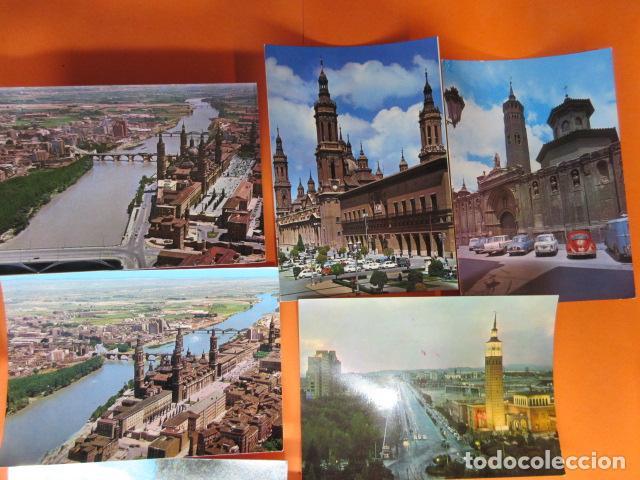 Postales: ZARAGOZA - 48 POSTALES ZARAGOZA - VARIAS CIRCULADAS 1967 Y 1973 CON SELLO - Foto 4 - 143192470