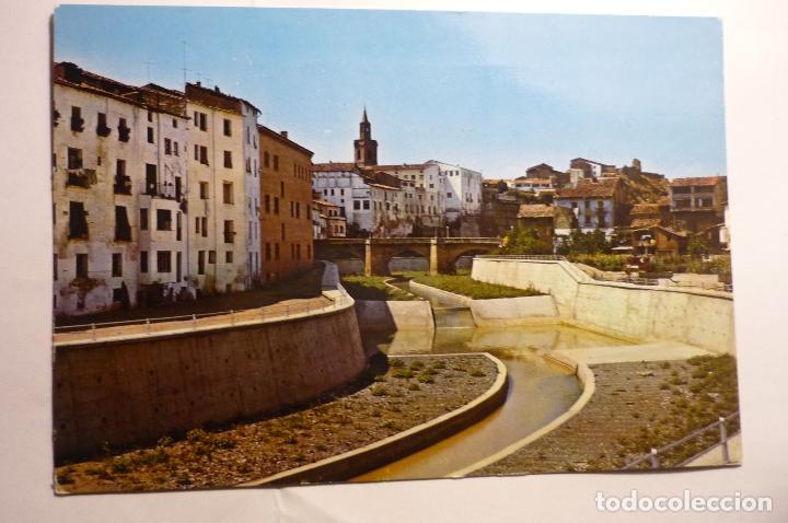 POSTAL BARBASTRO - CANALIZACION RIO VERO Y PUENTE PORTILLO (Postales - España - Aragón Moderna (desde 1.940))