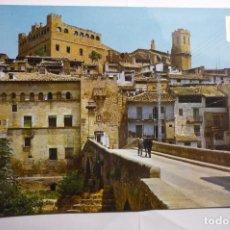 Postales: POSTAL VALDERROBRES - PUENTE PIEDRA. Lote 143837934