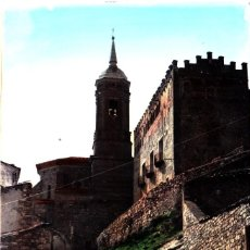 Postales: CALATORAO (ZARAGOZA) - CASTILLO Y TORRE IGLESIA. Lote 143838902