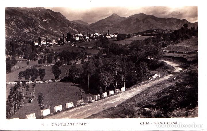 CASTEJON DE SOS (HUESCA) - CHIA VISTA GENERAL (Postales - España - Aragón Antigua (hasta 1939))
