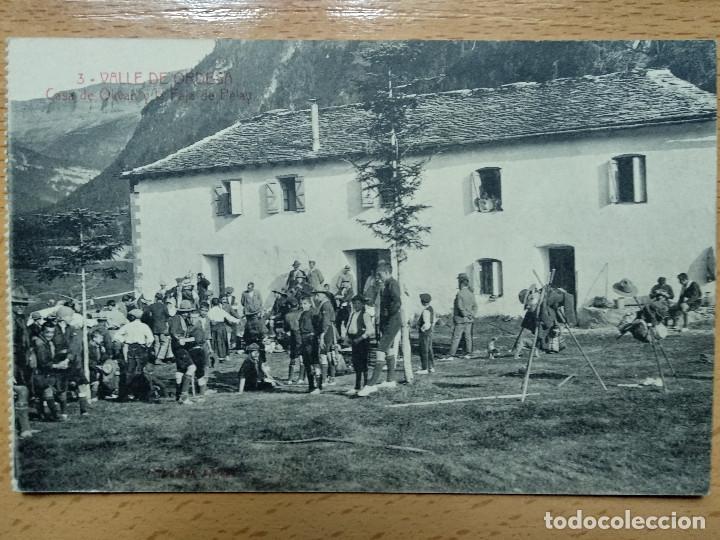 VALLE DE ORDESA, CASA DE OLIVAN Y LA FAJA DE PELAY. ED. SILVERIO PASCUAL 3. EXPLORADORES.. (Postales - España - Aragón Antigua (hasta 1939))