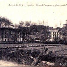 Postales: BAÑOS DE SERON EN JARABA (ZARAGOZA) - CASA DEL PARQUE Y VISTA PARCIAL DEL PUEBLO. Lote 145692074