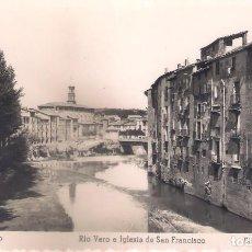 Postales: POSTAL DE BARBASTRO - RIO VERO E IGLESIA DE SAN FRANCISCO.. Lote 145727290