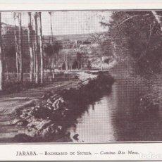 Postales: JARABA - BALNEARIO DE SICILIA (ZARAGOZA) - CAMINO RIO MESA. Lote 145779978