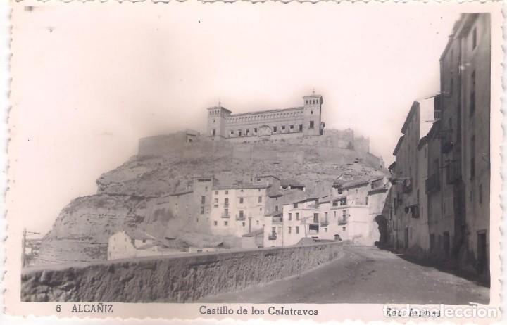 POSTAL DE ALCAÑIZ - CASTILLO DE LOS CALATRAVOS. (Postales - España - Aragón Moderna (desde 1.940))