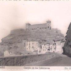 Postales: POSTAL DE ALCAÑIZ - CASTILLO DE LOS CALATRAVOS.. Lote 145966358