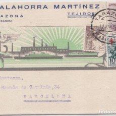 Postales: TARAZONA (ZARAGOZA) - PUBLICITARIA J. CALAHORRA ,ARTINEZ - TEJIDOS. Lote 146316970