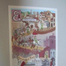 Cartes Postales: POSTAL TERUEL LA TARJETA DEL CORREO. Lote 146625286