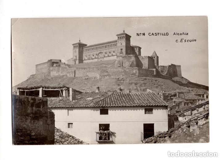 ALCAÑIZ.(TERUEL).- Nº14 CASTILLO. FOTO C. ESCUIN. POSTAL FOTOGRÁFICA (Postales - España - Aragón Antigua (hasta 1939))