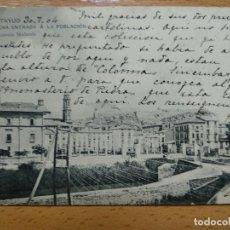 Postales: CALATAYUD UNA ENTRADA A LA POBLACION EDICION VIUDA ANTONIO MEDARDE. Lote 146913706
