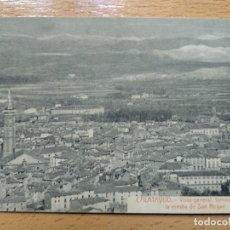 Postales: ZARAGOZA CALATAYUD VISTA GENERAL TOMADA DESDE ERMITA SAN ROQUE ED. EL REGIONAL. Lote 146913942