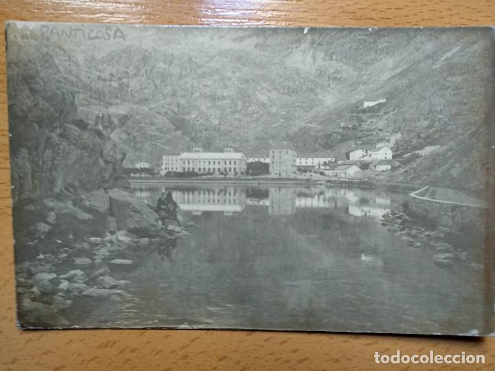 POSTAL FOTOGRAFICA. BALNEARIO DE PANTICOSA, HUESCA. ENTRADA POR LA CARRETERA.. (Postales - España - Aragón Antigua (hasta 1939))
