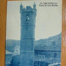 Postales: UNCASTILLO (ZARAGOZA) TORRE SAN MARTIN 13.. Lote 147056734