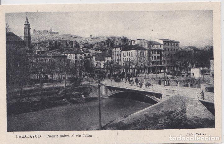 CALATAYUD (ZARAGOZA) - PUENTE SOBRE EL RIO JALON - FOTO RUBIO (Postales - España - Aragón Moderna (desde 1.940))