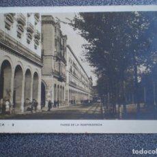 Postales: ARAGON ZARAGOZA PASEO DE LA INDEPENDENCIA POSTAL ANTIGUA. Lote 147445761