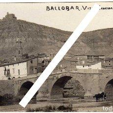 Postales: MAGNIFICA POSTAL FOTOGRAFICA - BALLOBAR (HUESCA) - VISTA GENERAL . Lote 147702502
