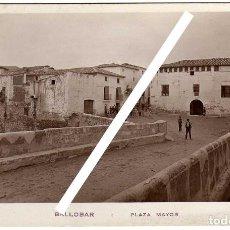 Postales: PRECIOSA POSTAL - BALLOBAR (HUESCA) - PLAZA MAYOR . Lote 147703026