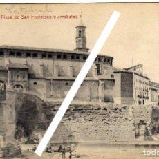 Postales: BONITA POSTAL - BARBASTRO (HUESCA) - PLAZA DE SAN FRANCISCO Y ARRABALES . Lote 147705550