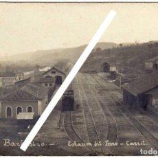 Postales: MAGNIFICA POSTAL FOTOGRAFICA - BARBASTRO (HUESCA) - ESTACION DEL FERRO-CARRIL. Lote 147708506
