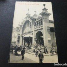 Postales: ZARAGOZA FACHADA DEL NUEVO MERCADO. Lote 147779686