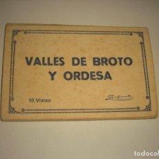 Postales: VALLES DE BROTO Y ORDESA. 2ª SERIE , 10 VISTAS. ZERKOWITZ.. Lote 147922854