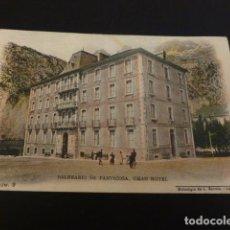 Postales: BALNEARIO DE PANTICOSA HUESCA GRAN HOTEL FOTOTIPIA DE L. ESCOLA Nº 9 SIN DIVIDIR. Lote 147936322