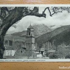 Postales: HUESCA LABUERDA CERCA DE AINSA PIRINEO ARAGONES CAMPANARIO. Lote 147937566