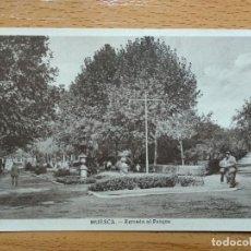 Postales: HUESCA. ENTRADA AL PARQUE.. Lote 147939402