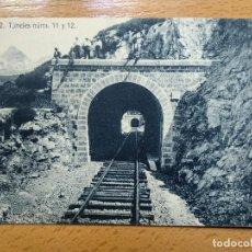 Postales: JACA, HUESCA - N. 13 - TUNELES NUM. 11 Y 12 - ED. HERAS. Lote 147940178