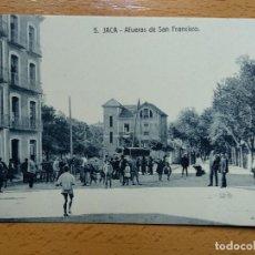 Postales: HUESCA JACA AFUERAS DE SAN FRANCISCO. ED. F. DE LA HERAS 5.. Lote 147940642
