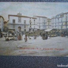 Postales: CALATAYUD ZARAGOZA PLAZA DEL MERCADO POSTAL ANTIGUA. Lote 148124712