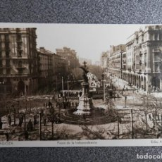 Postales: ARAGON ZARAGOZA PASEO DE LA INDEPENDENCIA POSTAL ANTIGUA. Lote 148125360