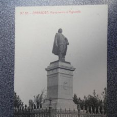 Postales: ARAGON ZARAGOZA MONUMENTO A PIGNATELLI POSTAL ANTIGUA. Lote 148125408