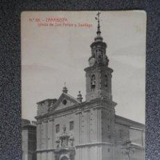 Postcards - ARAGON ZARAGOZA IGLESIA DE SAN FELIPE Y SANTIAGO POSTAL ANTIGUA - 148125472
