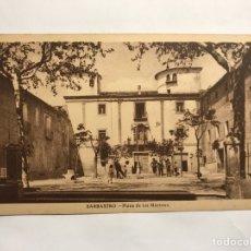 Postales: BARBASTRO (HUESCA) POSTAL ANIMADA, PLAZA DE LOS MÁRTIRES. EDITA: IMP. Y LIBRERÍA MOISES(H.1950?). Lote 148191085