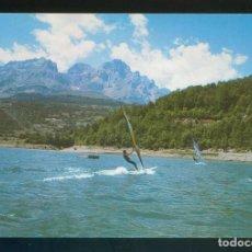 Postales: HUESCA. VALLE DE TENA. *WIND-SURFING EN EL EMBALSE DE BUBAL...* DEP. LEGAL B. 42555-1988. ESCRITA.. Lote 148198462