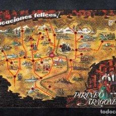 Postales: Nº 13 JACA. MAPA DE INTERÉS TURISTICO. Lote 148210826