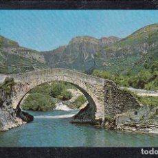 Postales: Nº 49-TORLA. PUENTE ROMÁNICO SOBRE EL RÍO ARA. Lote 148212574