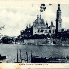 Postales: ZARAGOZA – ORILLAS DEL EBRO - SC. Lote 149480570