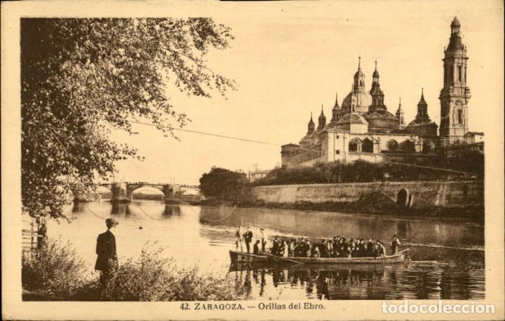 ZARAGOZA – 42 – ORILLAS DEL EBRO - ED. ARRIBAS – SC (Postales - España - Aragón Antigua (hasta 1939))