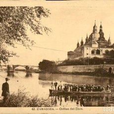 Postales: ZARAGOZA – 42 – ORILLAS DEL EBRO - ED. ARRIBAS – SC. Lote 149481222