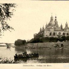 Postales: ZARAGOZA – ORILLAS DEL EBRO – ED. ARRIBAS - SC. Lote 149481694