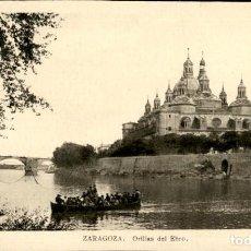 Postales: ZARAGOZA – ORILLAS DEL EBRO – EDICIONES ARRIBAS - SC. Lote 149482074