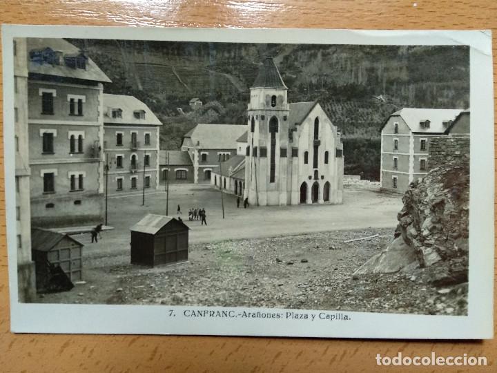 CANFRANC. HUESCA. ARAÑONES PLAZA Y CAPILLA. 7. (Postkarten - Spanien - Altes Aragon (bis 1939))