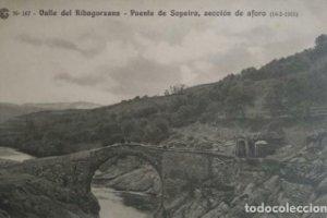 1915 Valle de Ribagorzana. Puente de Sopeira, sección del aforo. Catalana de gas y electricidad
