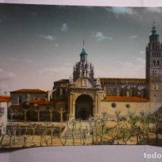 Postales: POSTAL TARAZONA CATEDRAL FACHADA -COLOREADA CM. Lote 151576974