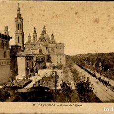 Postales: ZARAGOZA – 30 PASEO DEL EBRO - 9X14 – ED. ARRIBAS. Lote 151882754