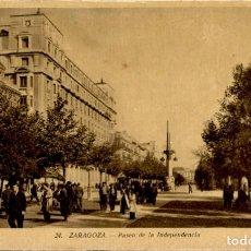 Postales: ZARAGOZA – 24 PASEO DE LA INDEPENDENCIA - 9X14 – ED. ARRIBAS. Lote 151882898